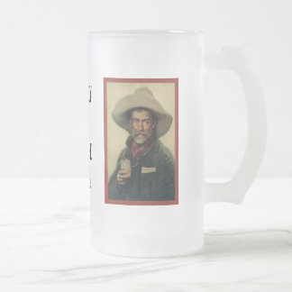 I'm Only Here For The Beer! Frosted Glass Mug