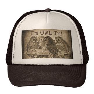 """I'm Owl In"" (All In) Humorous Poker Cap"