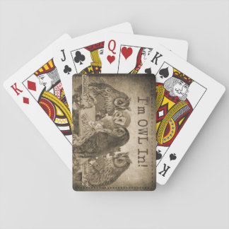 """I'm Owl In"" (I'm All In) Funny Poker Playing Cards"