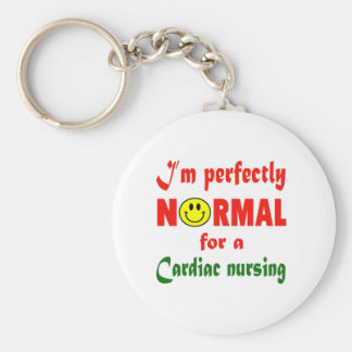 I'm perfectly normal for a Cardiac nursing. Basic Round Button Keychain