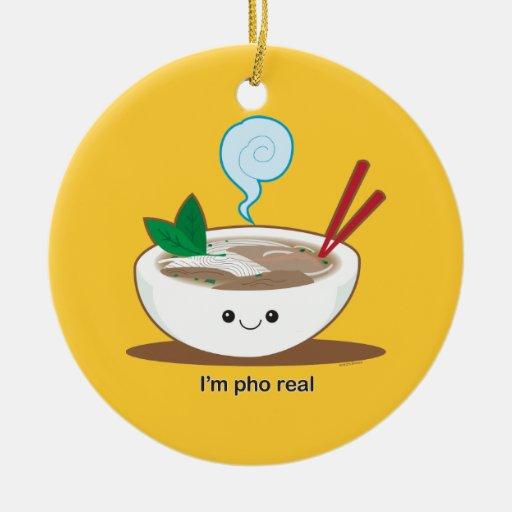 I'm Pho Real Christmas Ornaments