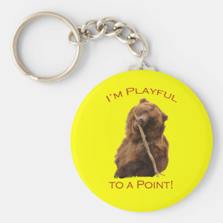 I'm Playful to a Point! Basic Round Button Key Ring