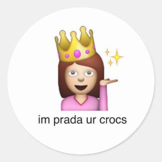 im prada ur crocs sticker