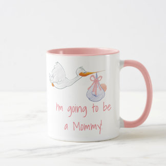 Im Pregnant, Stork Pregnancy Announcement Mug