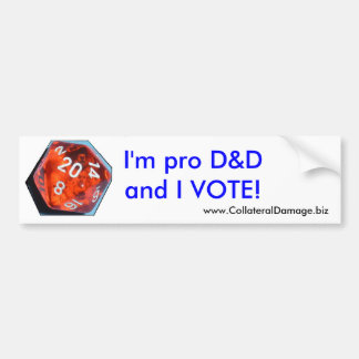 I'm pro D&D and I VOTE sticker