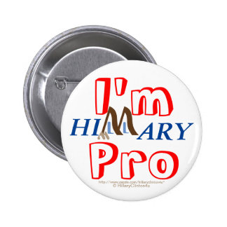 I'm Pro Hillary by HillaryClinton4u 6 Cm Round Badge
