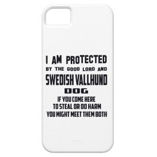 I'm protected by good lord and Swedish Vallhund do iPhone 5 Case
