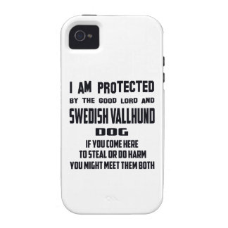 I'm protected by good lord and Swedish Vallhund do Case For The iPhone 4