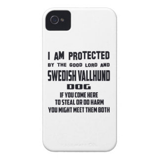 I'm protected by good lord and Swedish Vallhund do iPhone 4 Case-Mate Cases