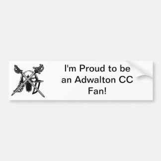'I'm Proud to bean Adwalton CC Fan' Bumper Sticker