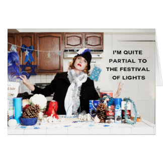 """""""I'm Quite Partial To The Festival of Lights"""" Card"""