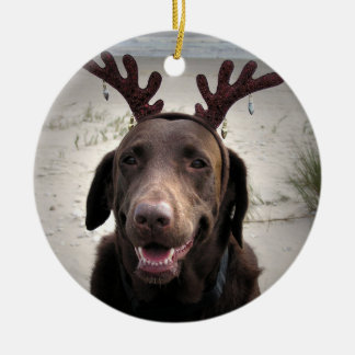 I'm ready Double-Sided ceramic round christmas ornament
