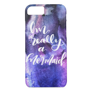 I'm Really a Mermaid Watercolor iPhone Case