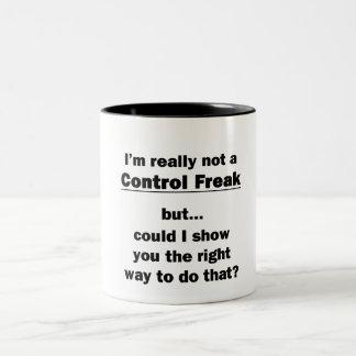 I'm Really Not a Control Freak Two-Tone Mug