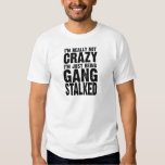 I'm really not crazy, I'm just being gangstalked T-shirts