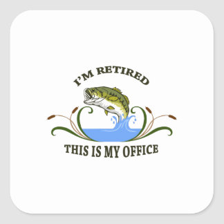 IM RETIRED ANGLER SQUARE STICKERS