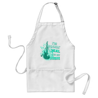 I'm Rockin' Teal for my Mom Aprons