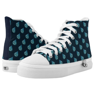 I'm Sad blue High Tops Printed Shoes