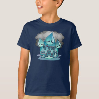 I'm Sad Kids navy T-shirt