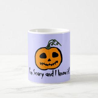 I'm Scary and I Know It Halloween Pumpkin Coffee Mug