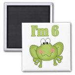 I'm Six Frog Tshirts and Gifts Fridge Magnet