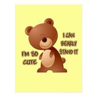 I'M SO CUTE BEAR POSTCARD