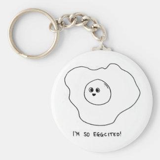 I'm So Eggcited Basic Round Button Key Ring