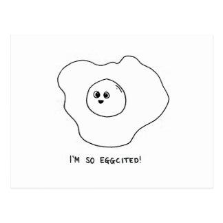 I'm So Eggcited Postcard