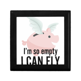 I'm So Empty Can Fly Pig Funny Gift Box