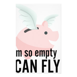 I'm So Empty Can Fly Pig Funny Stationery