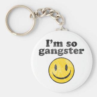 I'm So Gangster Smiley Key Ring