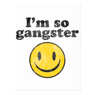 I'm So Gangster Smiley Post Cards