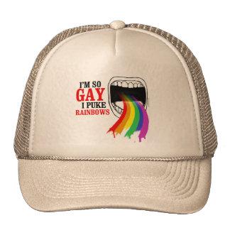 I'm so gay, I puke Rainbows Mesh Hats