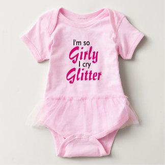 I'm So Girly I Cry Glitter pink tutu bodysuit