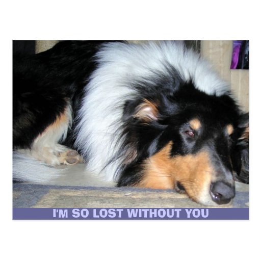 I'M SO LOST WITHOUT YOU POSTCARD