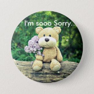 I'm so sorry bear 7.5 cm round badge