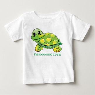 """I'M SOOOOO CUTE!""  Baby Turtle Baby T-Shirt"