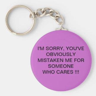 I'M SORRY !!!! BASIC ROUND BUTTON KEY RING