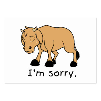 I'm Sorry Brown Crying Sad Weeping Calf Card Stamp Business Card Template
