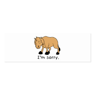 I'm Sorry Brown Crying Sad Weeping Calf Mug Watch Business Card Templates