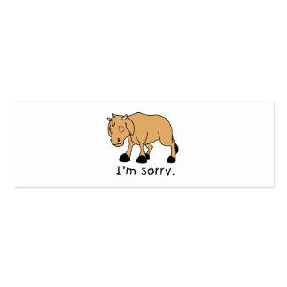 I'm Sorry Brown Crying Sad Weeping Calf Mug Watch Business Cards