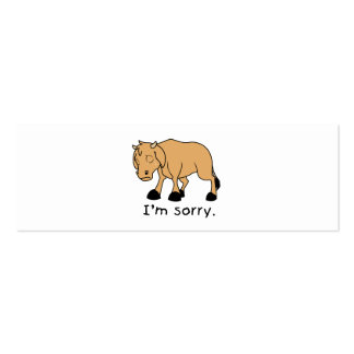 I'm Sorry Brown Crying Sad Weeping Calf Mug Watch Pack Of Skinny Business Cards