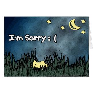 I'm Sorry Card - Fallen Star