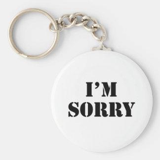 I'M Sorry Key Ring