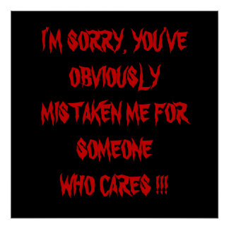I'M SORRY !!!!! POSTER