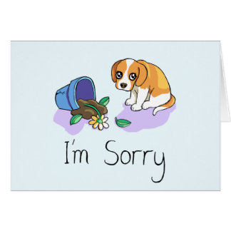 I'm Sorry Sad Puppy Card