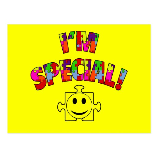 I'm Special! Autistic Awareness Post Cards
