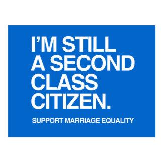 I'M STILL A SECOND CLASS CITIZEN -.png Postcard