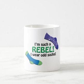 I'm such a rebel, I wear odd socks! Basic White Mug