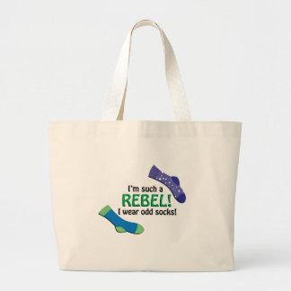 I'm such a rebel, I wear odd socks! Jumbo Tote Bag
